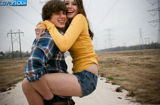 Love Couple Hug Hold Fun Romantic Road
