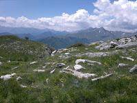 Blick in die Seealpen vom Monte Armetta aus