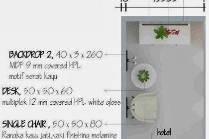 Jasa Interior Desain Booth Hotel Backdrop mdf