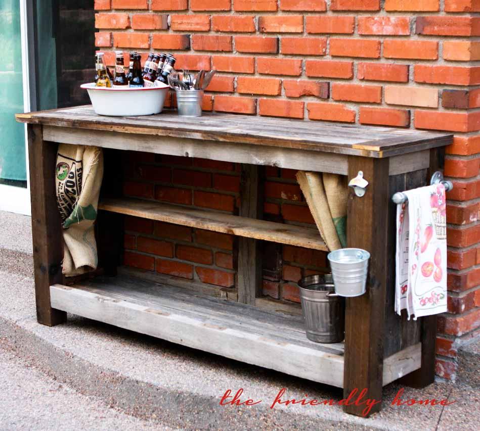 backyard redo outdoor bar from reclaimed wood. Black Bedroom Furniture Sets. Home Design Ideas