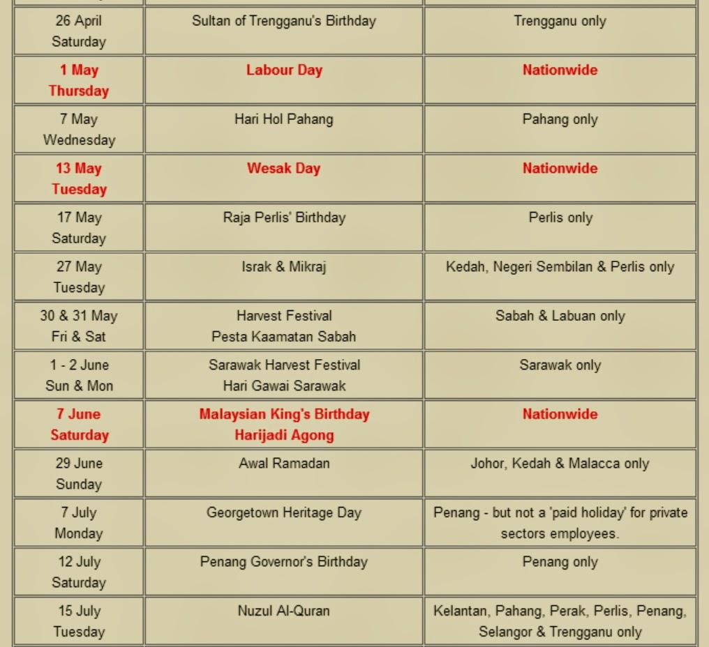 Visit http://www.malaysian-explorer.com/malaysia-public-holidays-2014