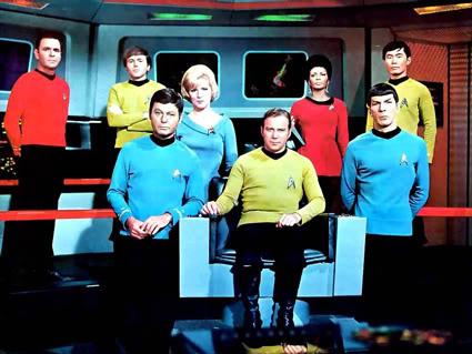 Equipe da USS Enterprise, da série Jornada nas Estrelas (Star Trek)