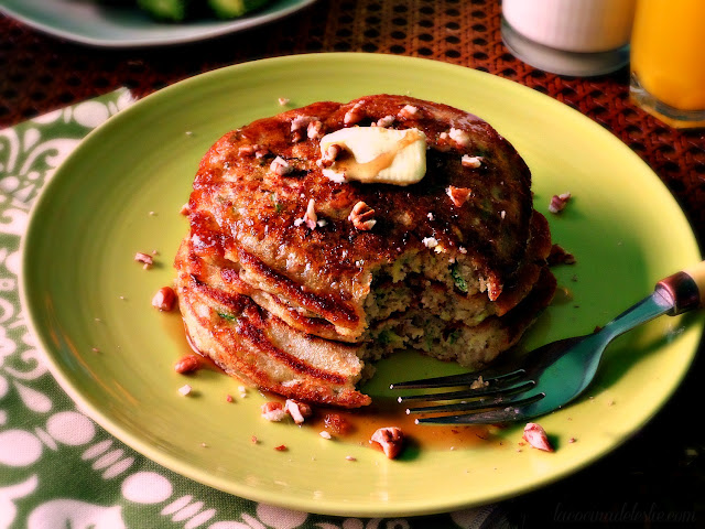 Hotcakes de Calabacita - lacocinadeleslie.com