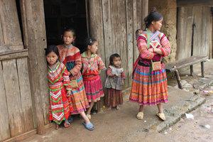 Lùng Xám village of H'mong people in Xín Mần