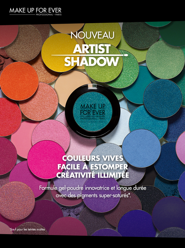 Les fards Artist Shadow de Make Up For Ever