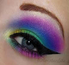 Colorful Shades Eye Makeup