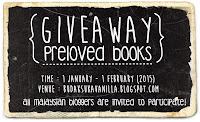 http://budaksukavanilla.blogspot.com/2014/12/giveaway-preloved-books.html