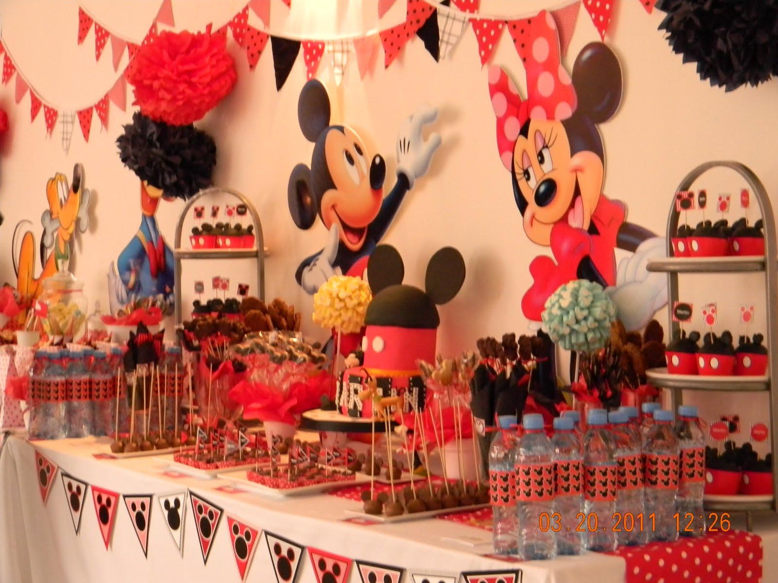 Decoracion Cumplea?os Mickey ~ Un cumple muy especial, para el primer A?ito de Martin Mucho color y