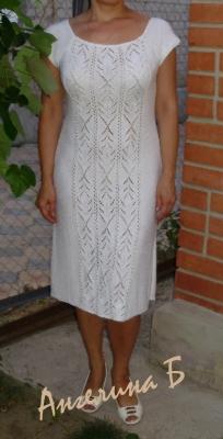 Платье летнее белоснежный ажур