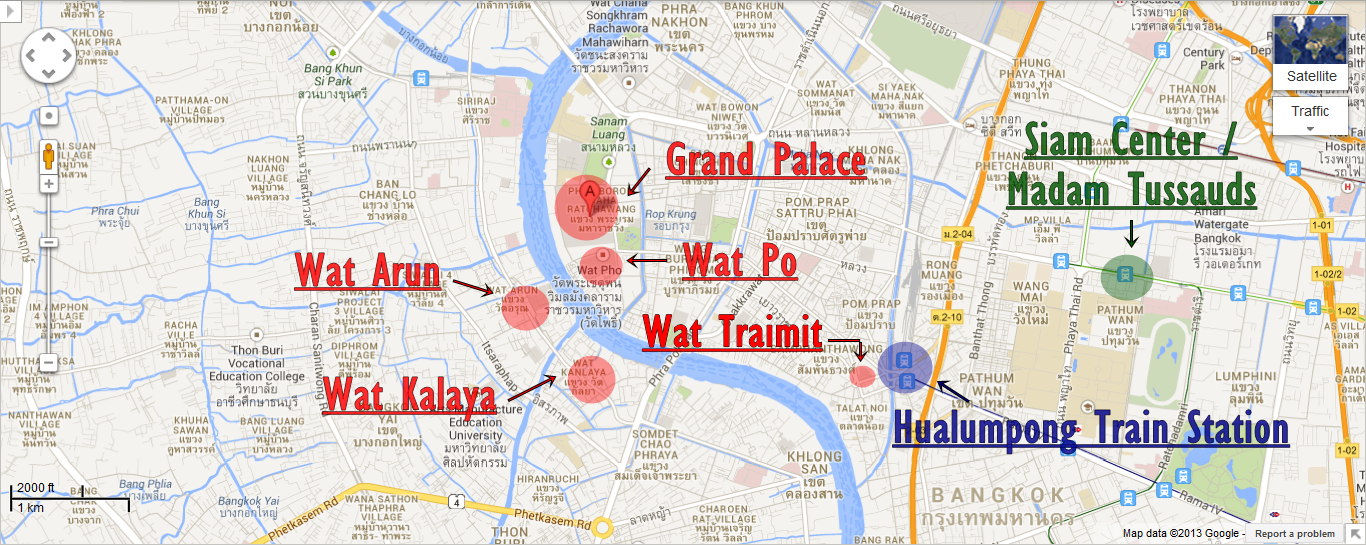 Travel Guide Amazing things to do in Bangkok – Bangkok Tourist Attractions Map