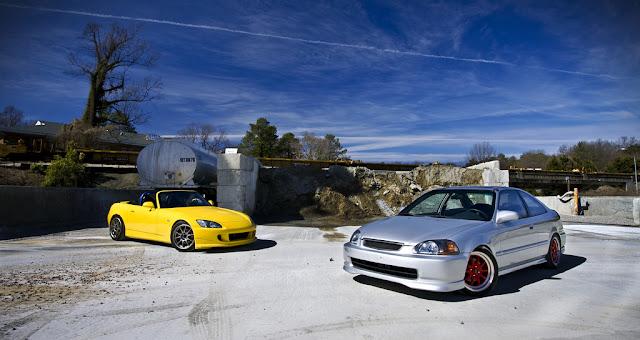 Honda S2000 & Honda Civic VI coupe , japoński sportowy samochód, coupe, roadster