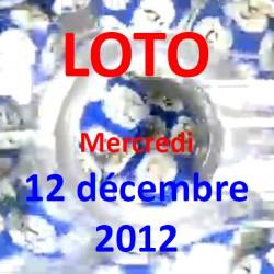 boules du LOTO - - tirage du mercredi 12 décembre 2012