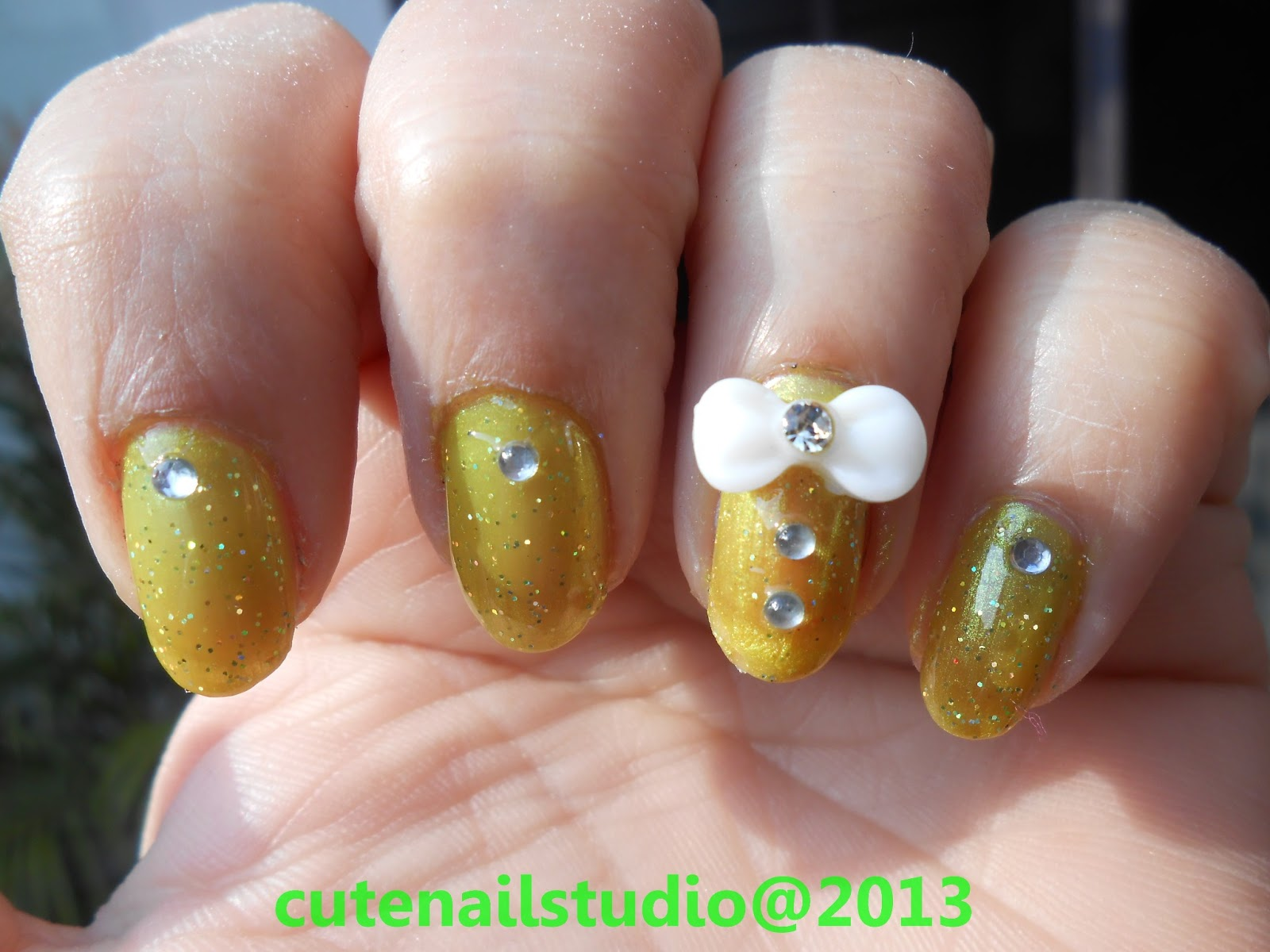 3D Bow Nail Art Designs