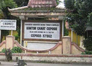 Kecamatan Cepogo Kabupaten Boyolali, Jawa Tengah
