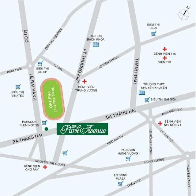 vị trí The Park Avenue