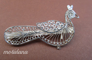 peacock brooch in filigree from Karimnagar , Andhra Pradesh