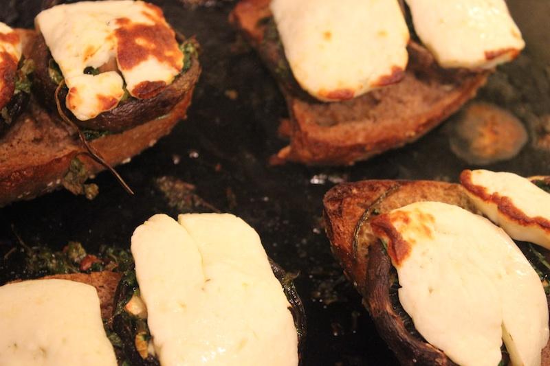 Mushroom, Thyme & Halloumi Burger