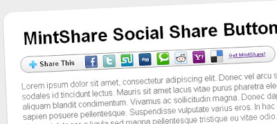 MintShare – Pure CSS & HTML Based Social Share Widget