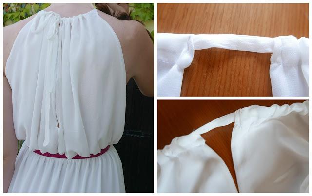 Espalda de vestido de verano