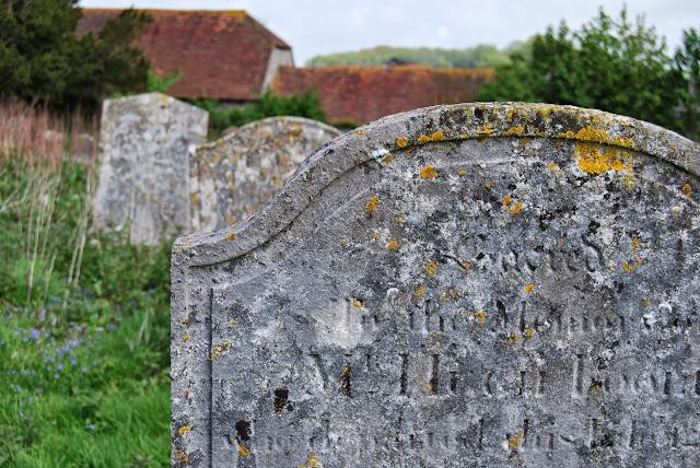 Grave stones, Falmer village