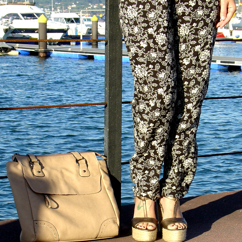 Floral Jumpsuit at the marina. Visit www.forarealwoman.com  #fashion #blogger #ootd