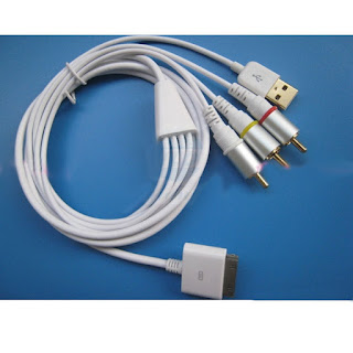 Composite Video to TV RCA AV USB Cable Charger for iPad 3 2 bundle iPhone 4S