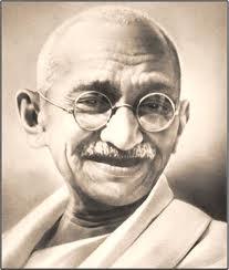 Mahatma Gandhi smiling face