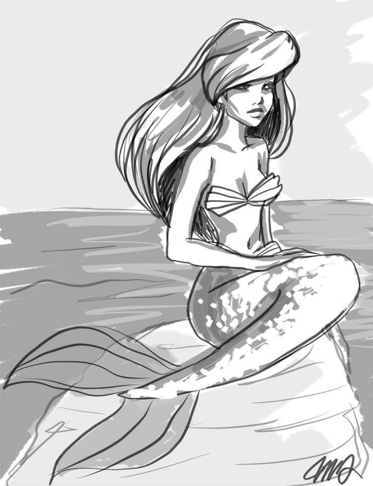 Ariel Drawings Tumblr Ariel tumblr drawing