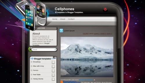 Cellphones - Free Blogger Template