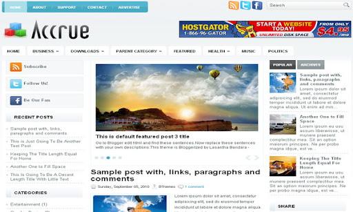 Accrue Blogger Template