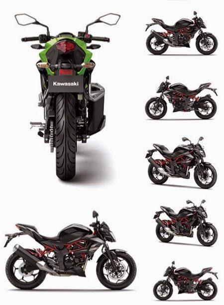 Gambar Kawasaki Z250SL Hijau