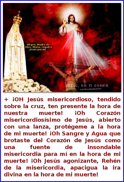 oracion de santa faustina