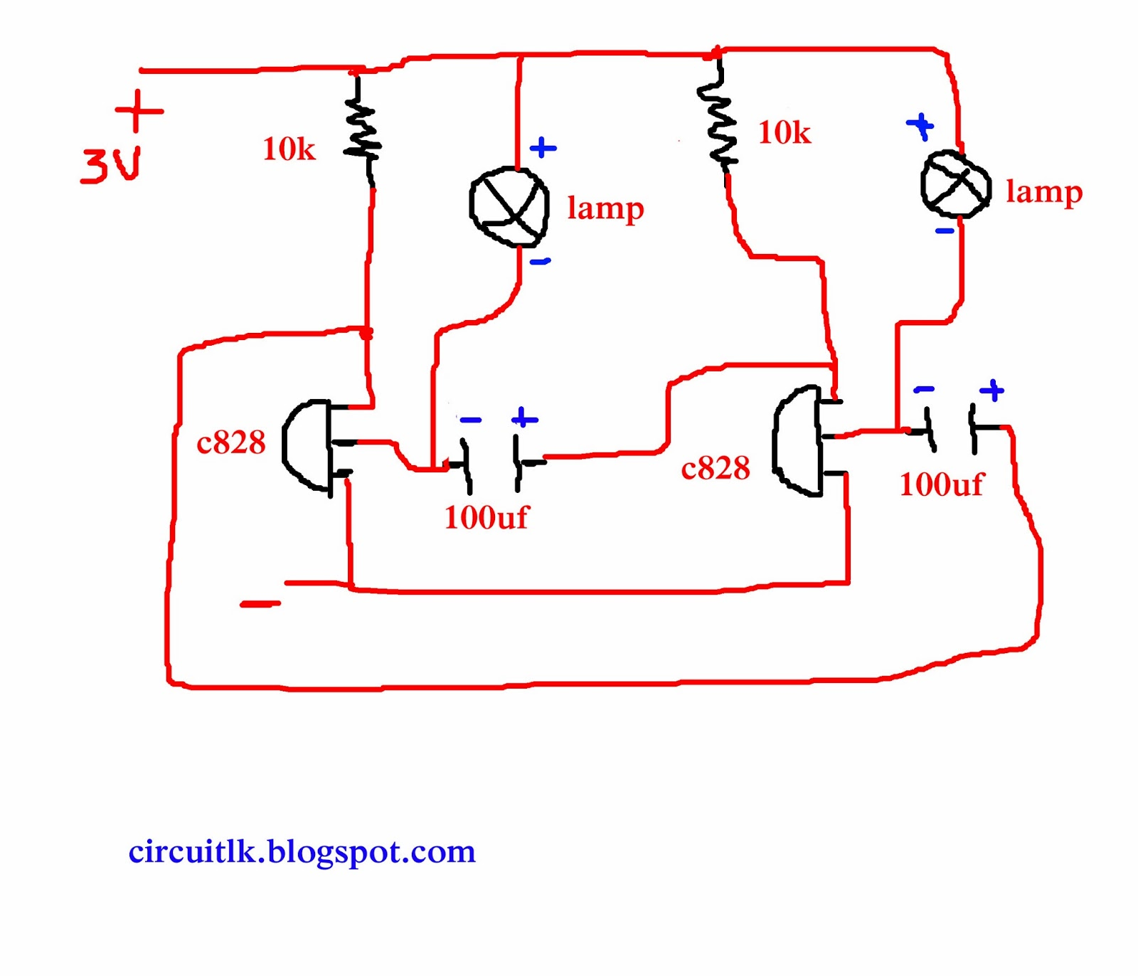 Circuits Lanka 2 Led Bulb Automatic Circuit Menna Diagram Eka