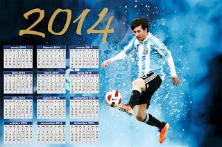 Calendario 2014 - Lionel Messi