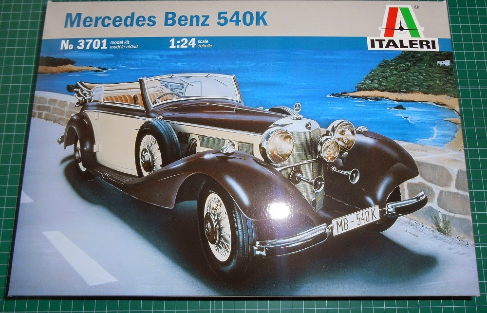 box kit italeri mercedes benz 540k scale 1:24