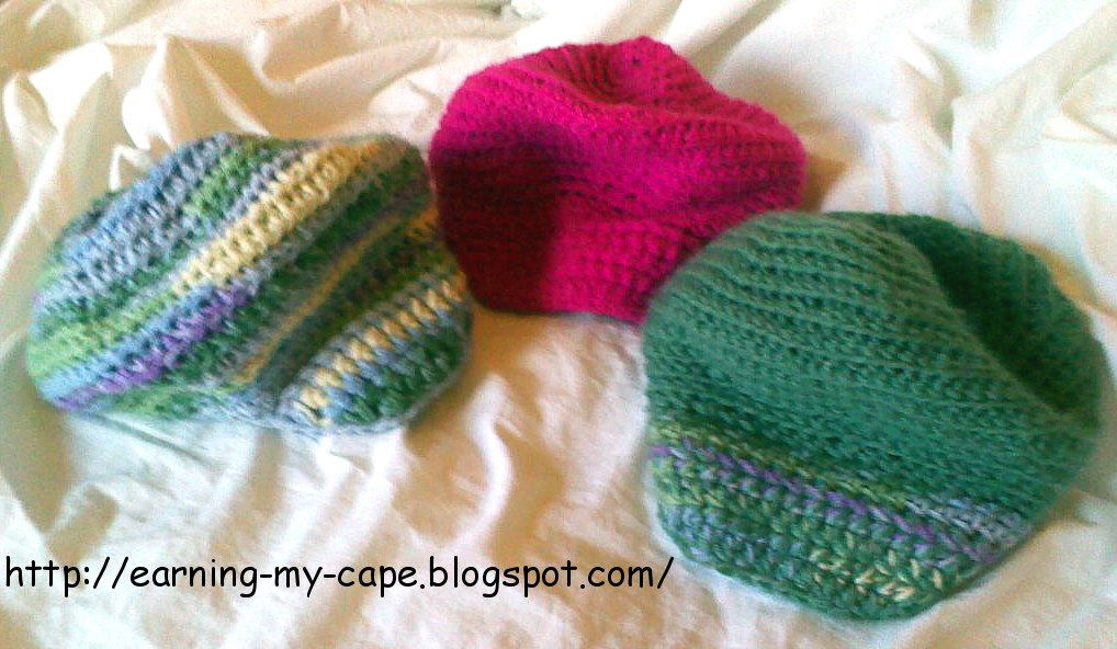 Earning-My-Cape: Childs Slouchy Hat With Brim (free ...