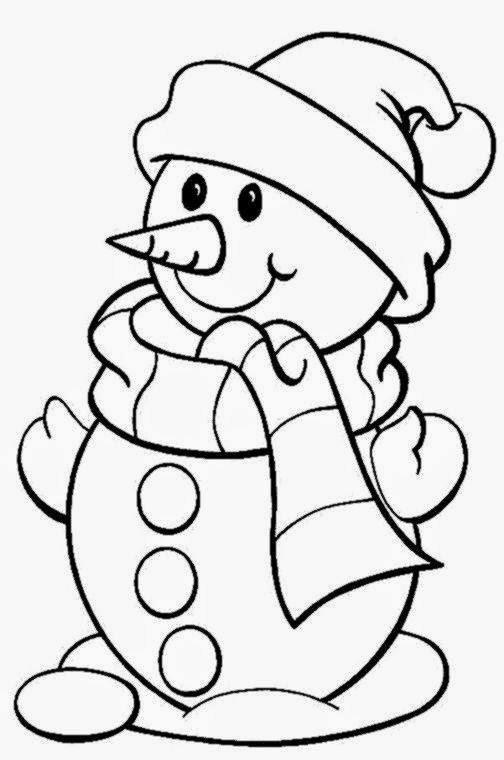 free printable snowman coloring pages for kids - Free Coloring Pages Snowman