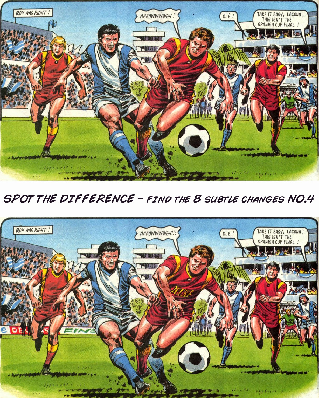 Roy of the Rovers Spot the Difference No.4
