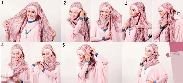 jilbab in love: Cara mudah memakai jilbab segi empat panjang dan ...