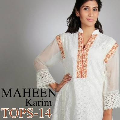 Maheen Karim Tops Collection 2014