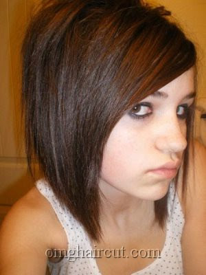 hairstyles for girls with short hair and bangs. emo hairstyles for girls with