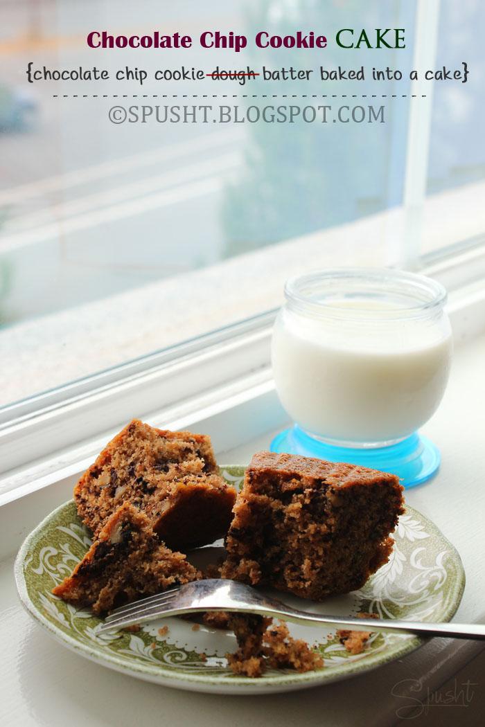 Spusht   Chocolate Chip Cookie Cake Recipe