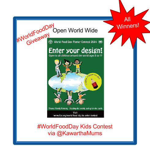 Kawartha Lakes Children 5 to 17 can enter this world wide Giveaway promoting World food day