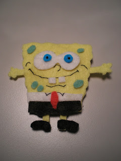 Broche Fieltro Bob Esponja Hello Kitty