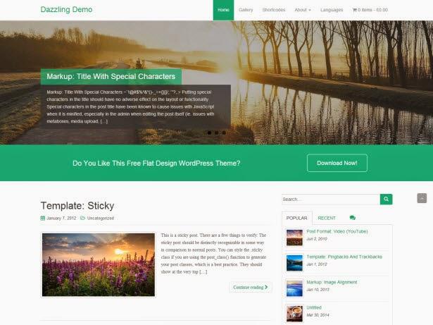 Dazzling – WordPress Business Theme