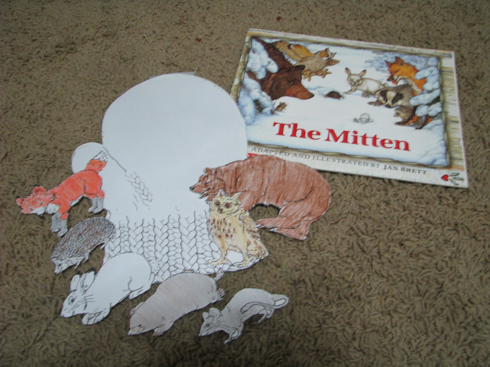 It's just an image of Stupendous The Mitten Jan Brett Activities