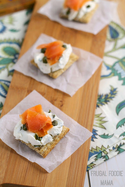 This easy to make Lox, Stox, & Triscuit recipe requires just 3 tasty ingredients and is the perfect quick appetizer for a weekend brunch or an afternoon get-together. #ad