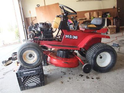 "repair riding lawn mower, lawn chief, 36"" deck, 11hp"