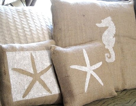 Painting Pillows -6 Painted Pillow Design Ideas - Completely Coastal