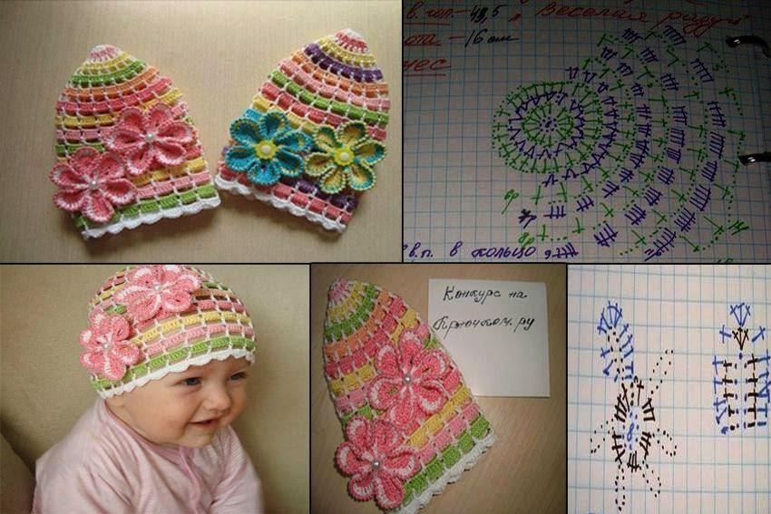 5 gorros modernos para tejer al crochet